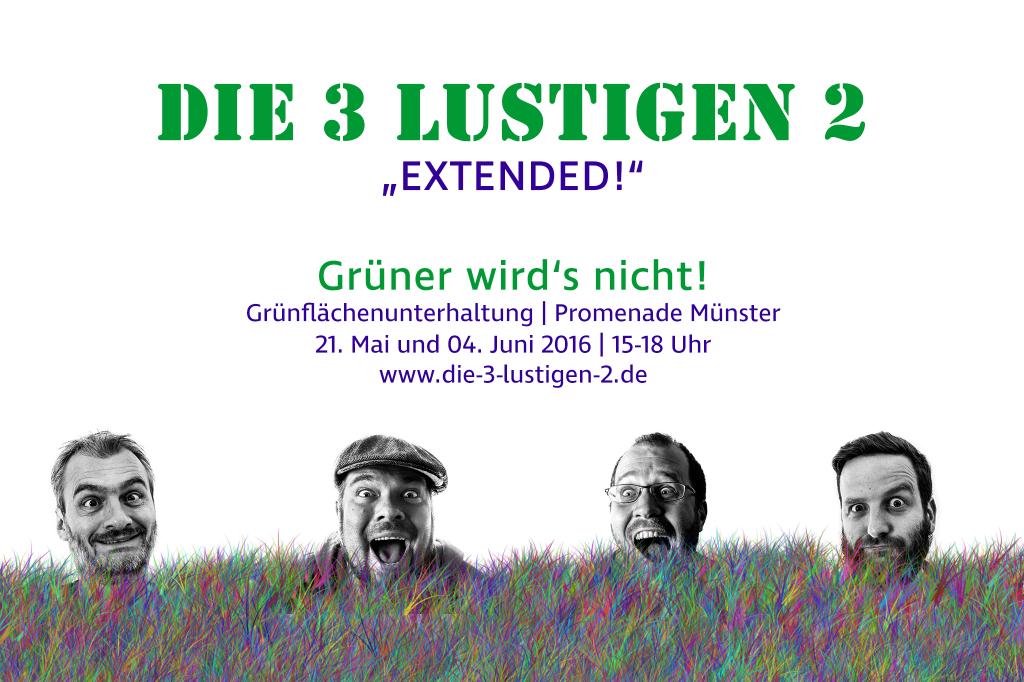 Die 3 lustigen 2 - Extended - Grünflächenunterhaltung Münster 2016