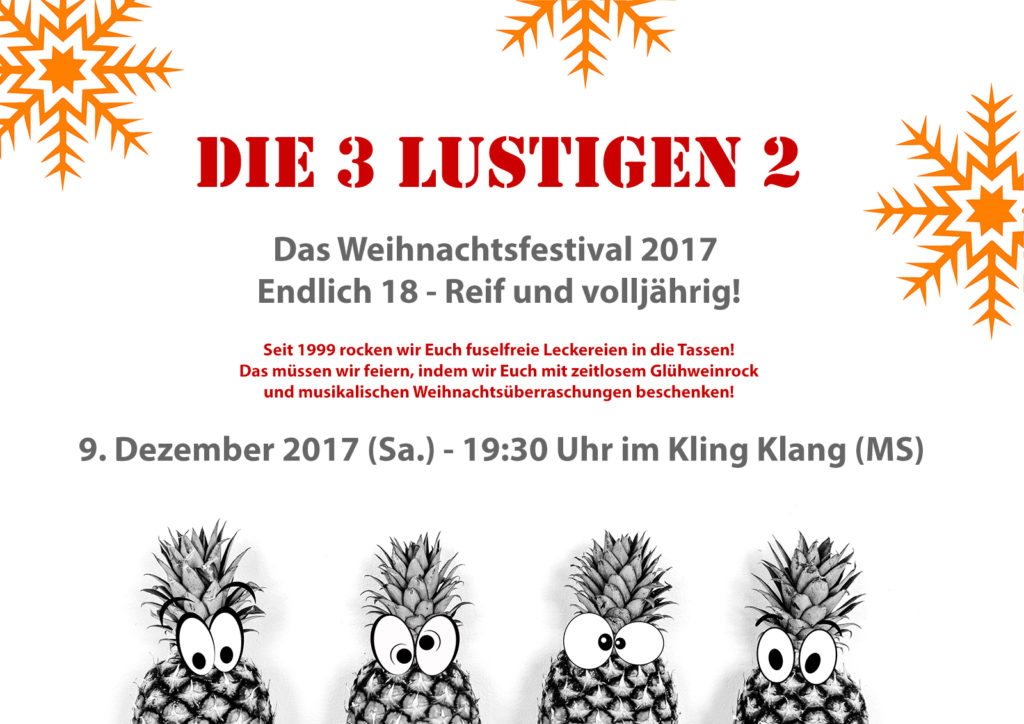 Die 3 lustigen 2 - Weihnachtsfestival 2017