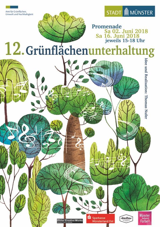 Grünflächenunterhaltung Münster 2018 - Livemusik Bands Open Air