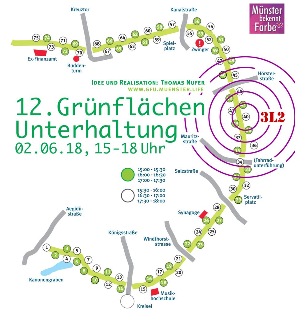 Grünflächenunterhaltung Münster 2018 - Die 3 lustigen 2 - Songrock Glühweinrock Rock'n'Roll Band Livemusik Open Air