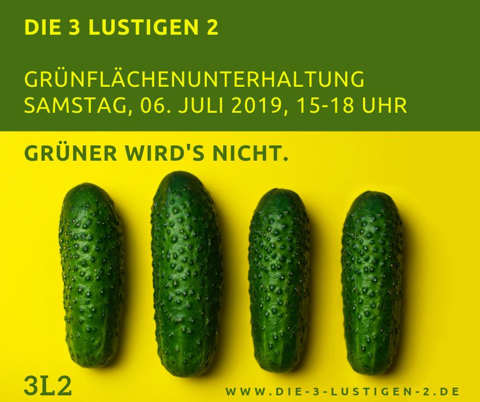 Die 3 lustigen 2 - Grünflächenunterhaltung Münster 2019
