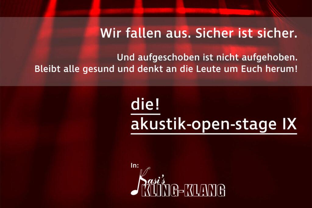 Die Akustik Open Stage 2020 - Münster - Absage